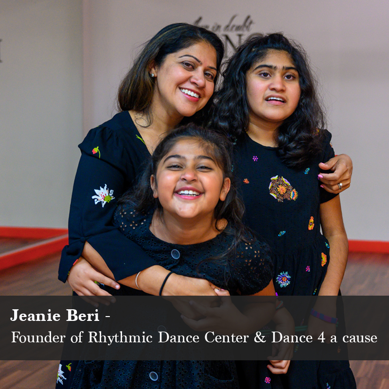 Jeanie Beri, Founder of Rhythmic Dance Center & Dance 4 a cause